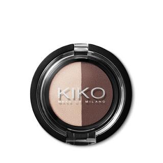Kiko On-the-go Minis Light&Dark Eyeshadow Duo 01 Cream-Chocolate