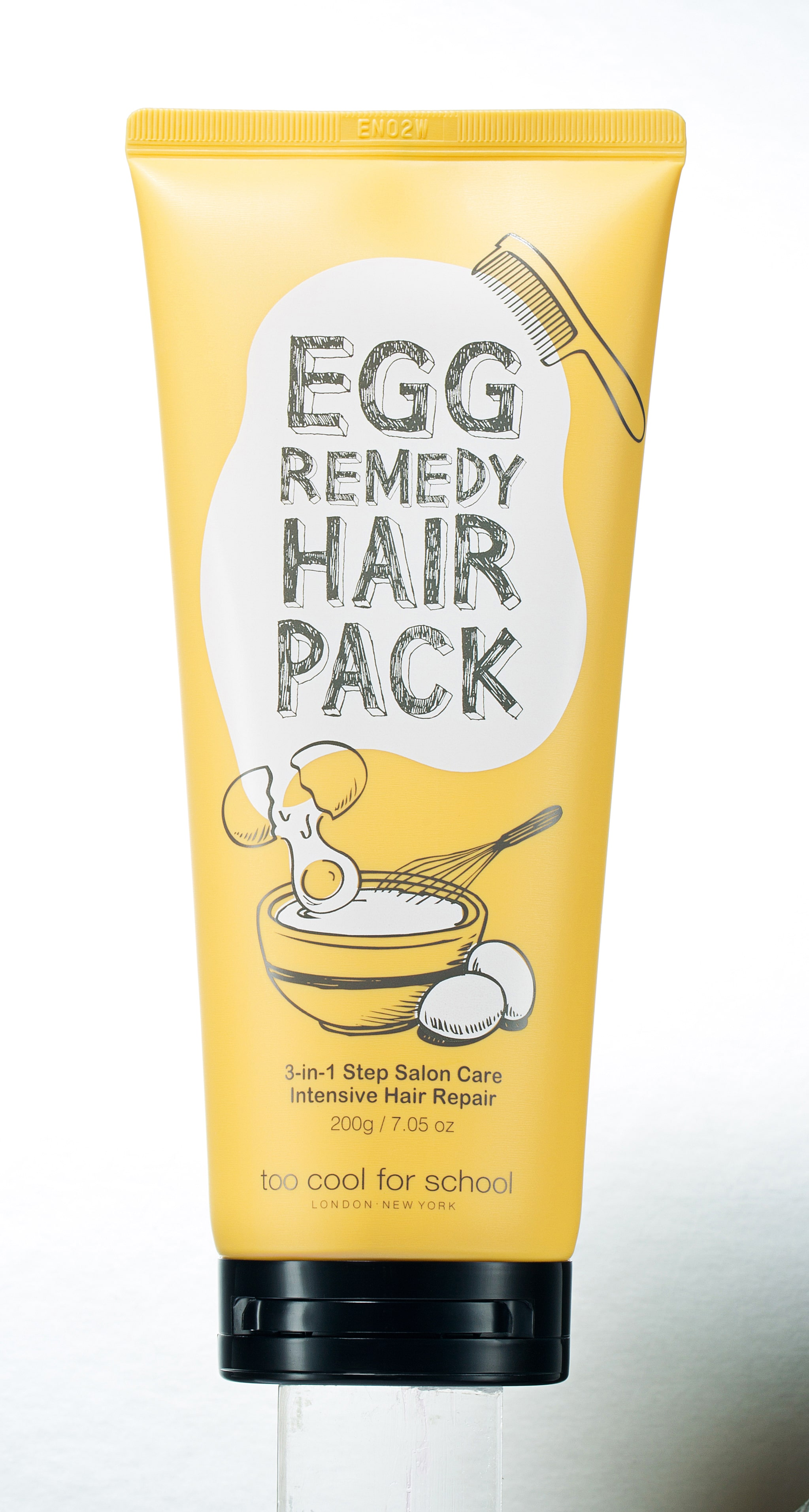 Skincare coreana - Too Cool For School Egg Remedy Hair Pack