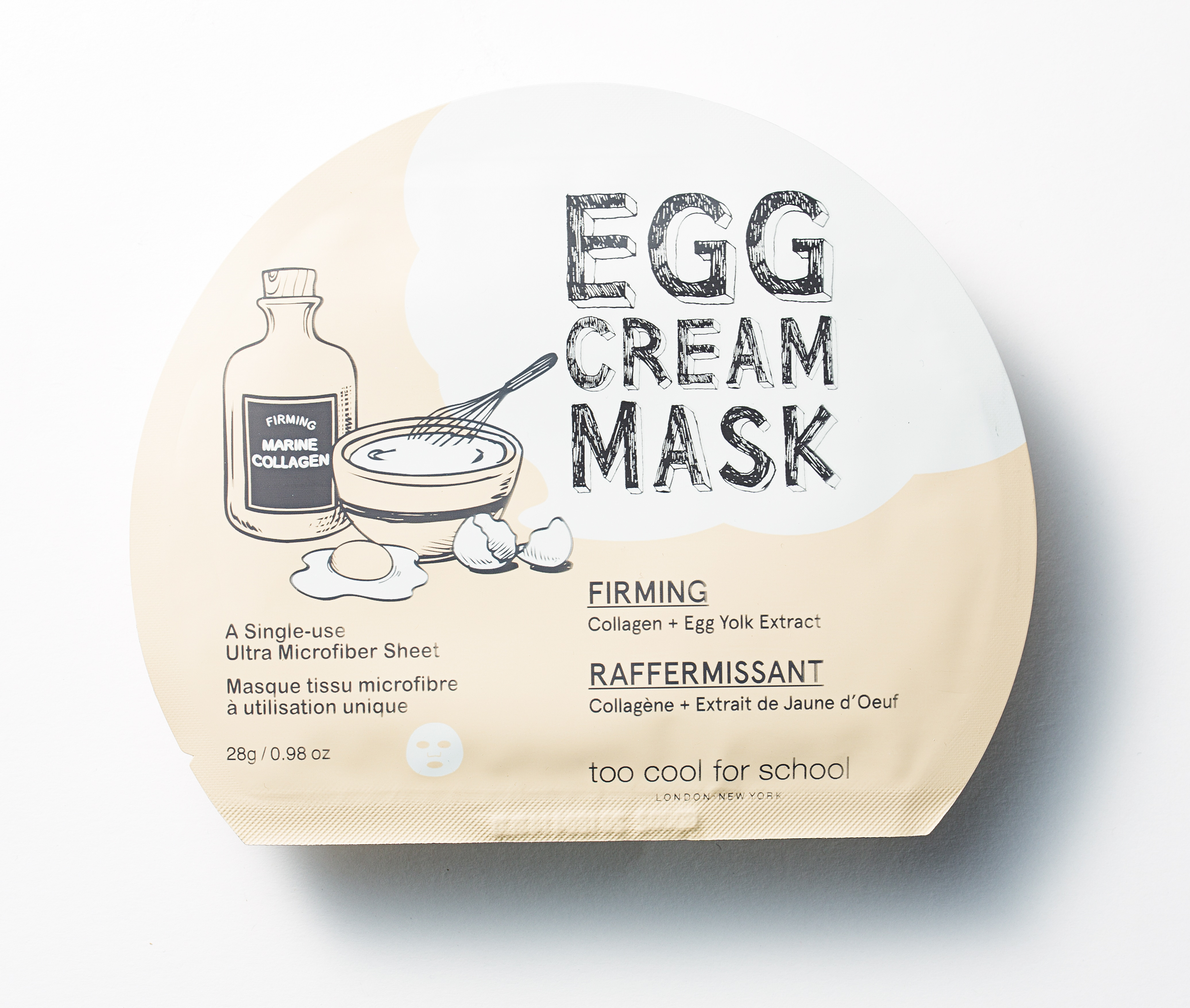 Egg cream mask firming della Egg Collection by Too Cool For School