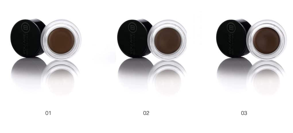 Le tre colorazioni del eye brown definer di You Are Bellissima