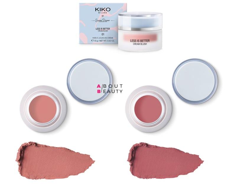 Kiko Less is Better - Cream Blush 01 e 02