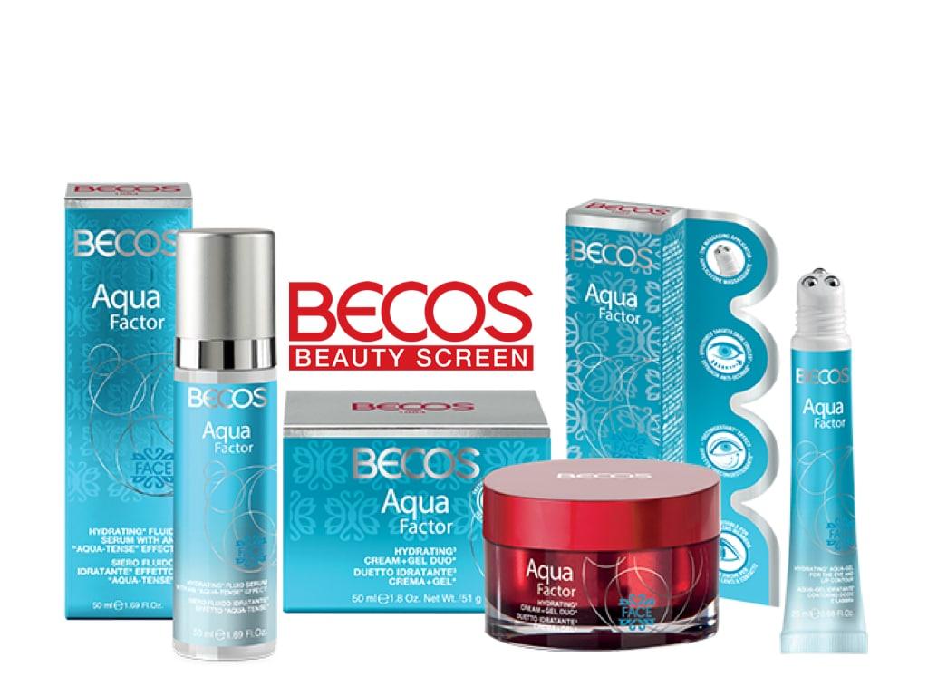 Becos lancia Aqua Factor, una nuova linea skin care per una pelle idratata in profondità