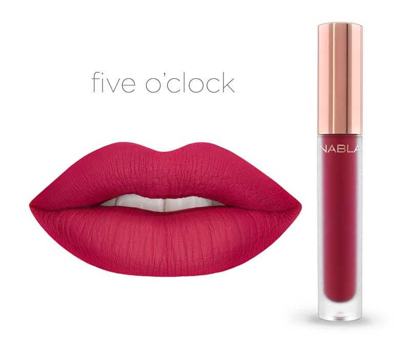 Five O'Clock - Dreamy Matte Liquid Lipsticks, le nuove tinte labbra Nabla Cosmetics