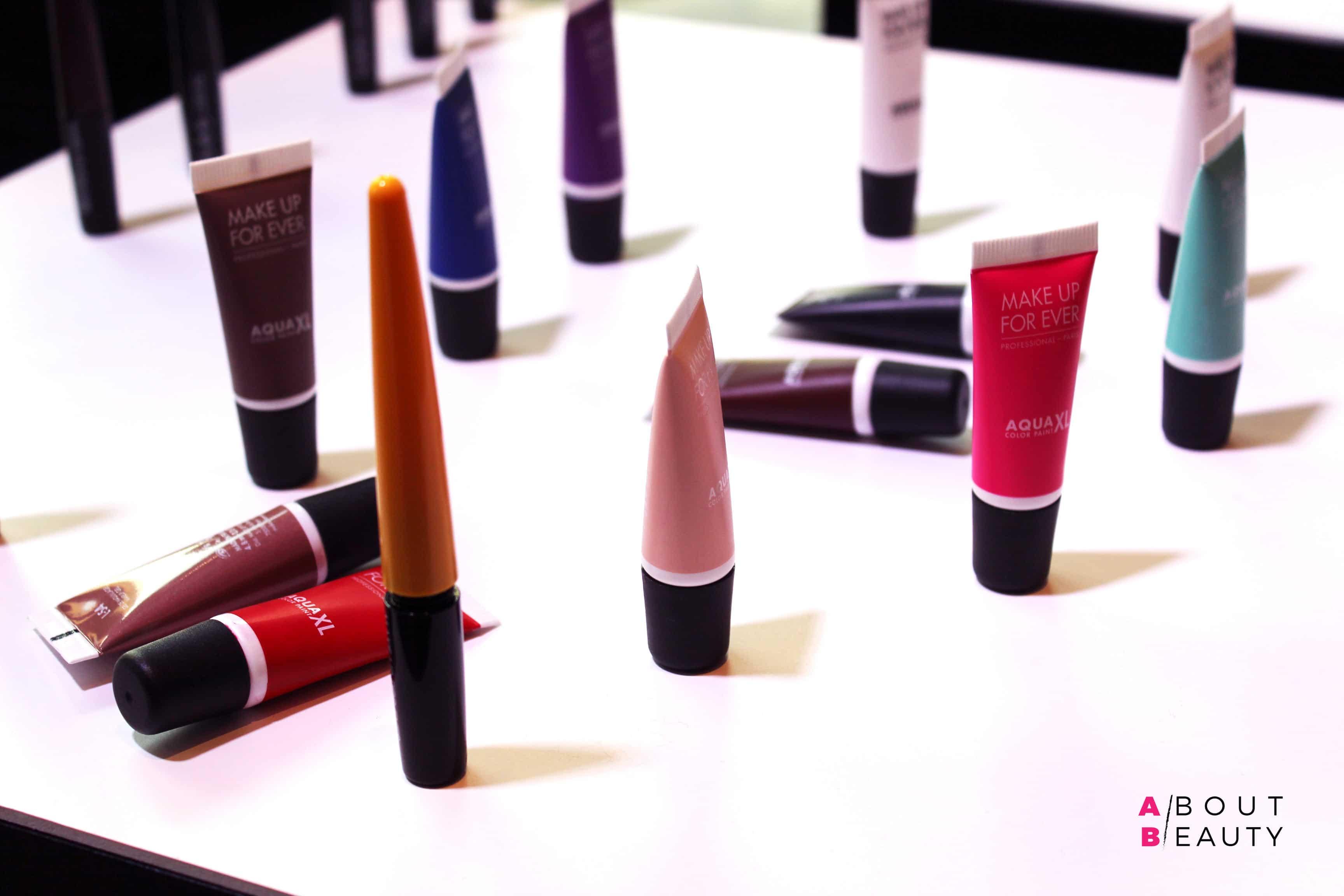 Aqua XL Color Paint di Make Up For Ever nelle sue diverse nuance