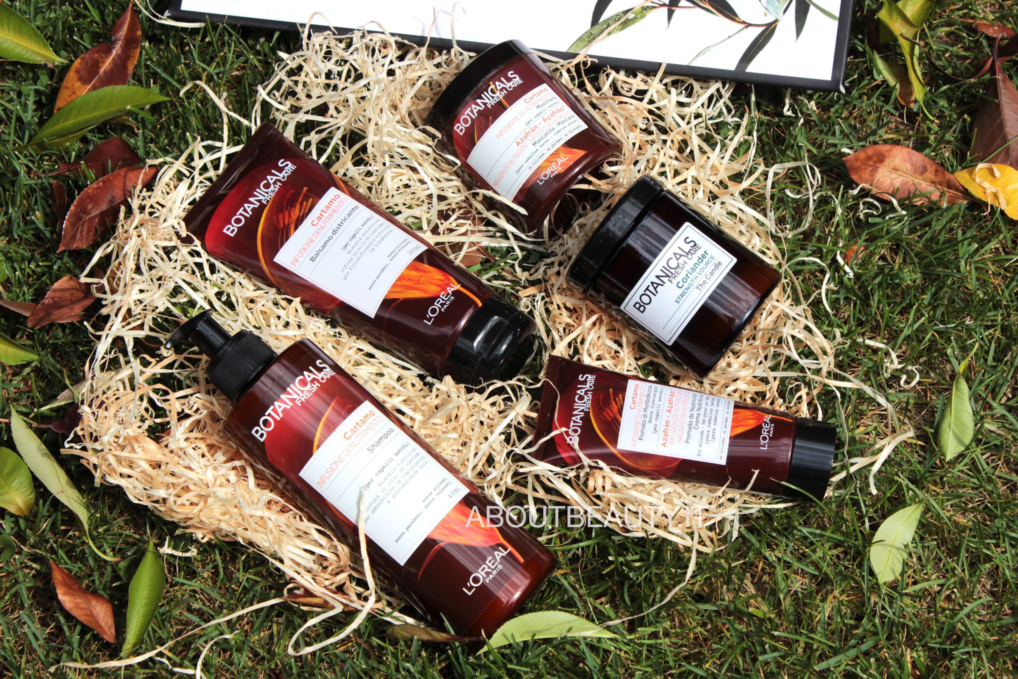 L'Oreal Botanicals Fresh Care, la linea al Cartamo per capelli secchi