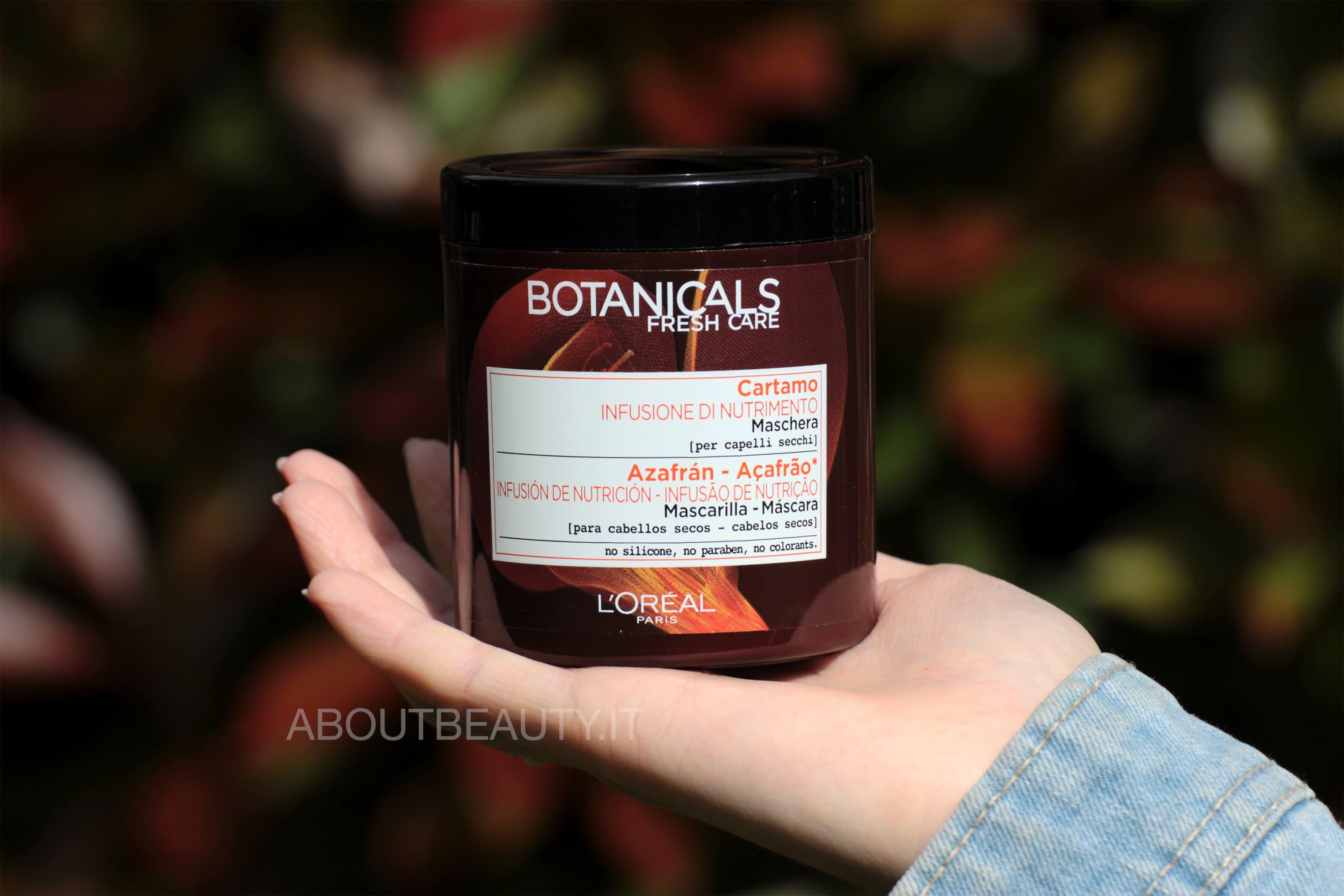 L'Oreal Botanicals Fresh Care, la linea al Cartamo per capelli secchi - Maschera nutriente