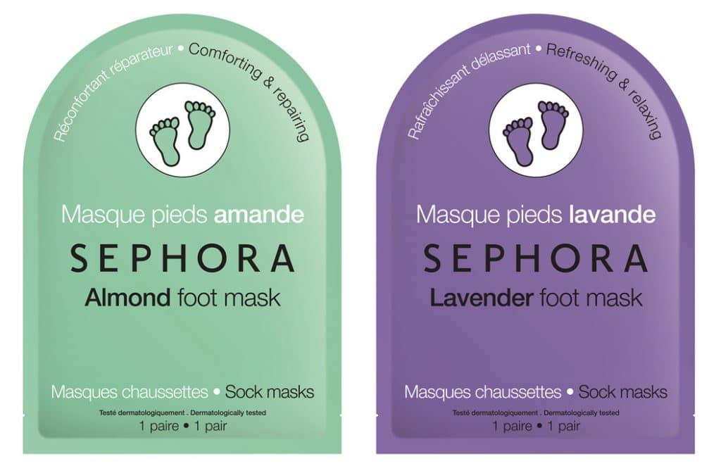 Sephora calze maschera per i piedi alla mandorla e alla lavanda