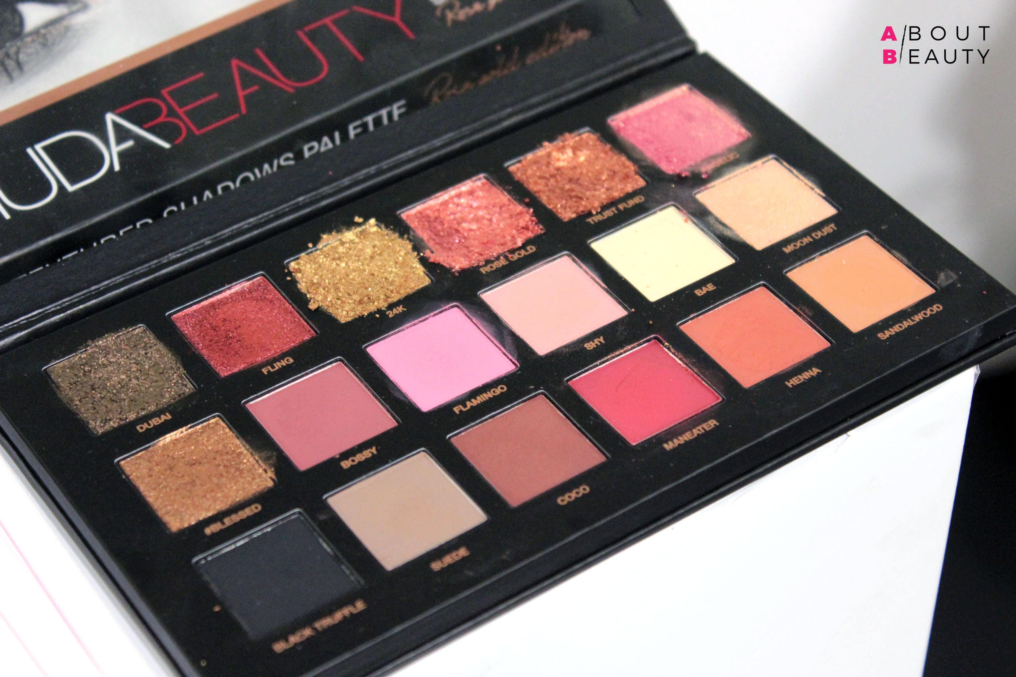 Huda Beauty arriva in Italia: tutti i prodotti presto disponibili da Sephora - Palette di ombretti Rose Gold Edition Eyeshadow Palette