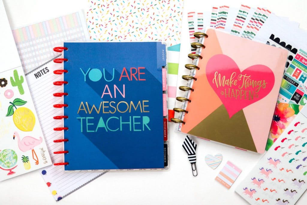 Happy Planner school set agende 2018