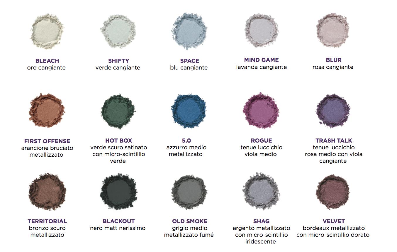Urban Decay Distortion Eyeshadow Palette - Recensione, dove acquistare, info, prezzo - Le tonalità