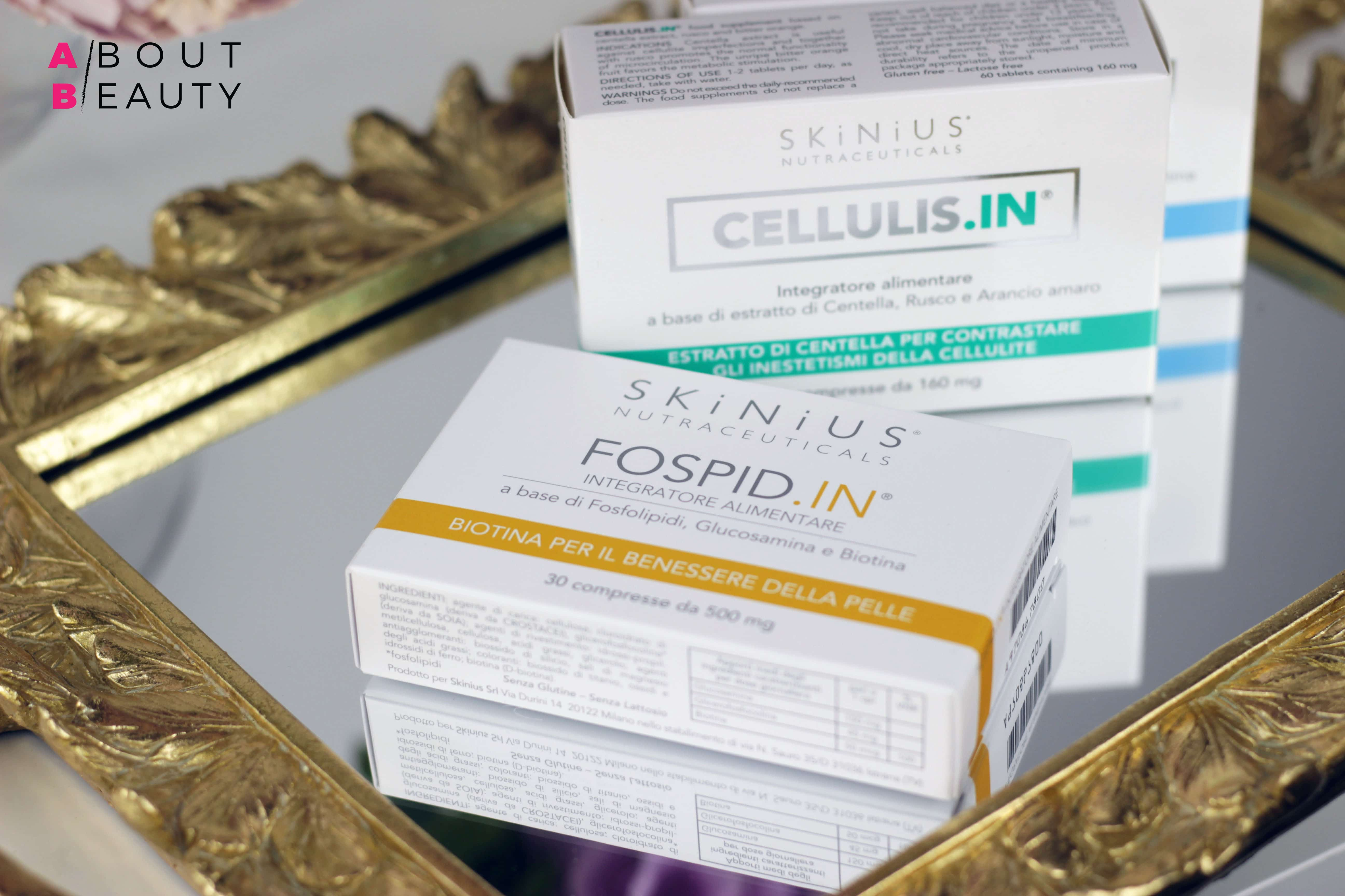 Skinius compie dieci anni: tutte le novità - Nuove formulazioni, packaging, travel size - Review, info, recensione, dove acquistare, prezzo, opinioni - Integratore alimentare Fospid.In