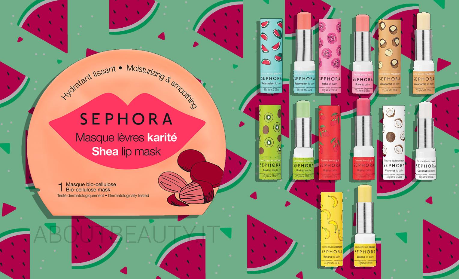 Pulizia del viso a casa con le novità Sephora Collection Skincare Estate 2018: balsami labbra e maschera labbra - - Review, recensione, opinioni, info, prezzo, dove acquistare