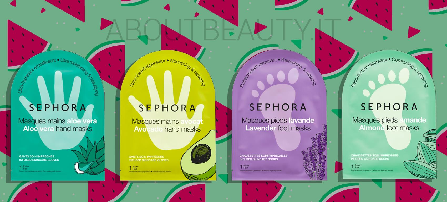 Pulizia del viso a casa con le novità Sephora Collection Skincare Estate 2018: le maschere mani e piedi - Review, recensione, opinioni, info, prezzo, dove acquistare