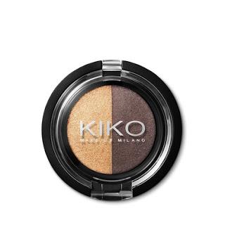 Kiko On-the-go Minis Light&Dark Eyeshadow Duo 03 Gold-Ebony