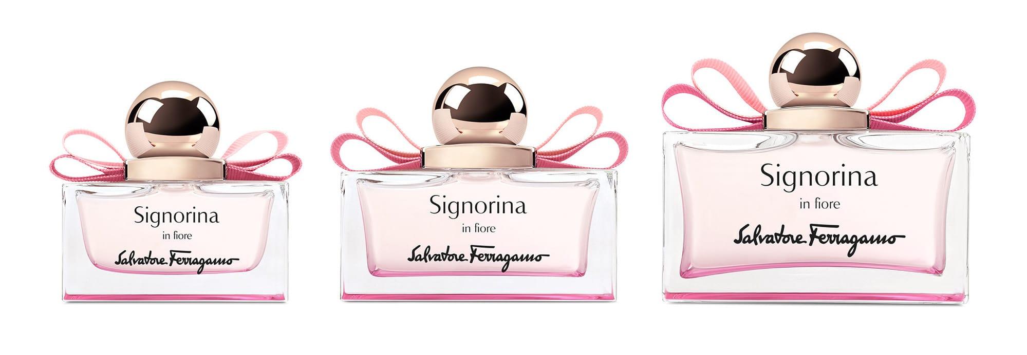 I tre formati di Signorina in Fiore, la nuova fragranza primaverile di Salvatore Ferragamo