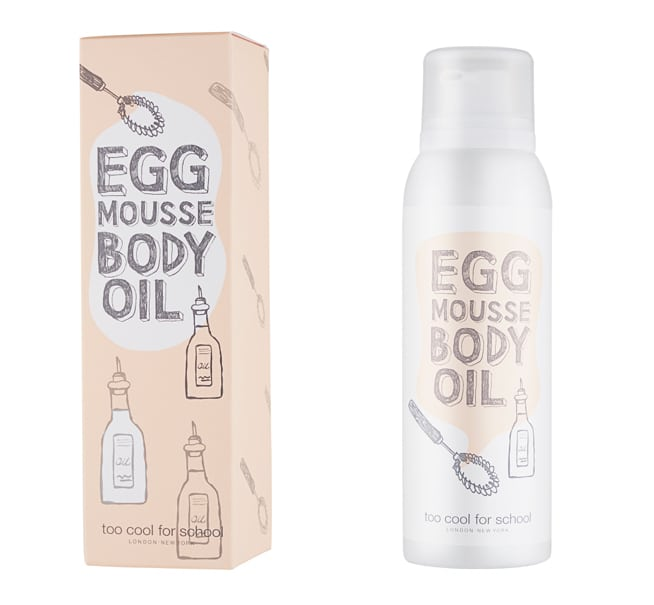 Egg mousse body oil della Egg Collection by Too Cool For School