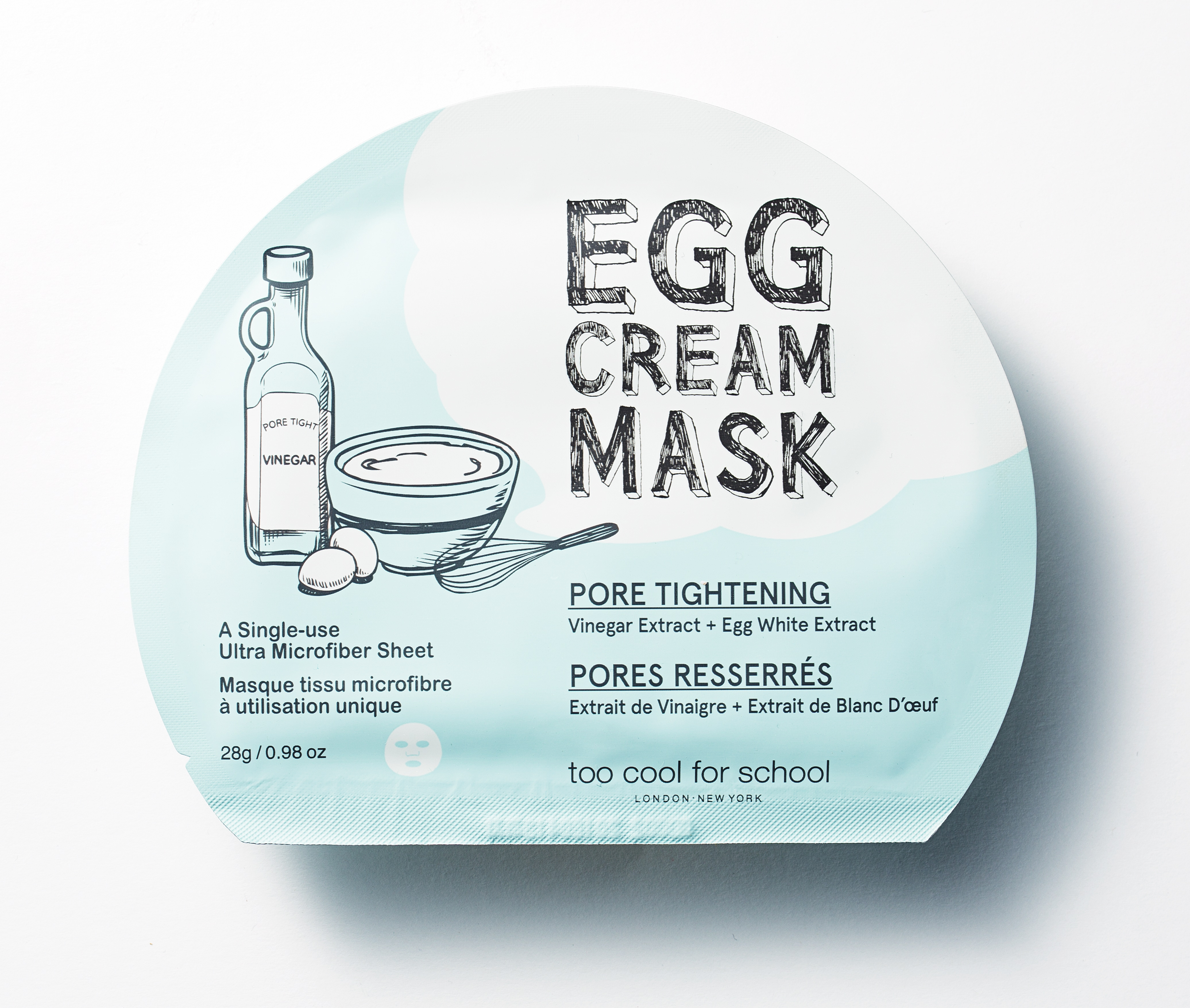La egg cream mask pore tightening della Egg Collection by Too Cool For School