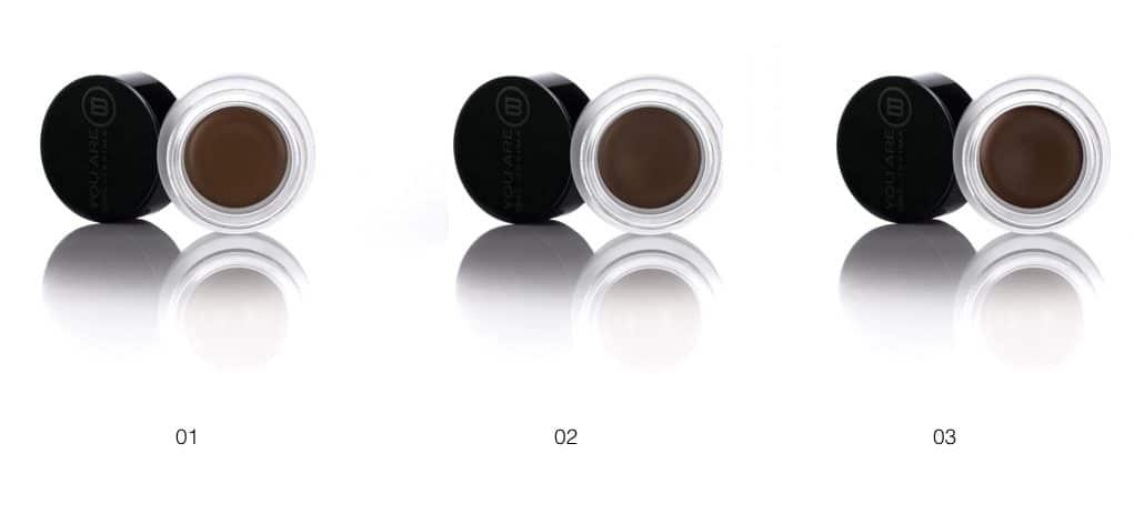 Le tre colorazioni del eye brown definer di You Are Bellissima