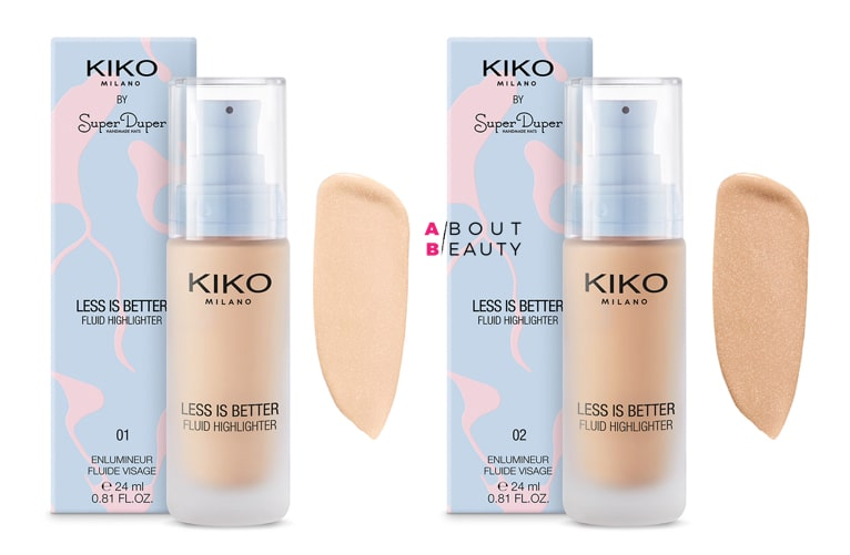Kiko Less is Better - Illuminante Liquido Fluid Highlighter 01 e 02