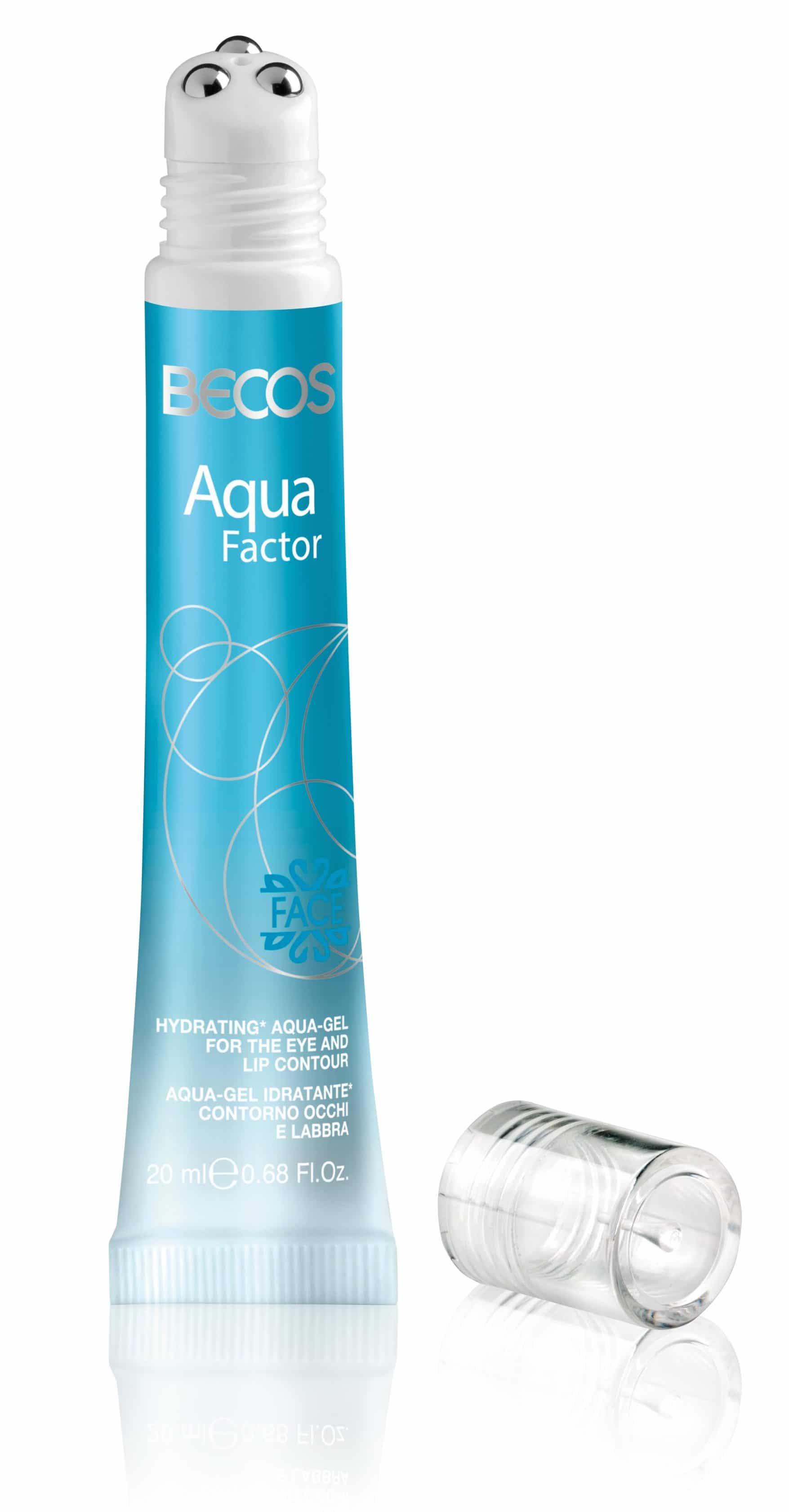 Aqua gel idratante per contorno occhi e labbra della linea Aqua Factor by Becos