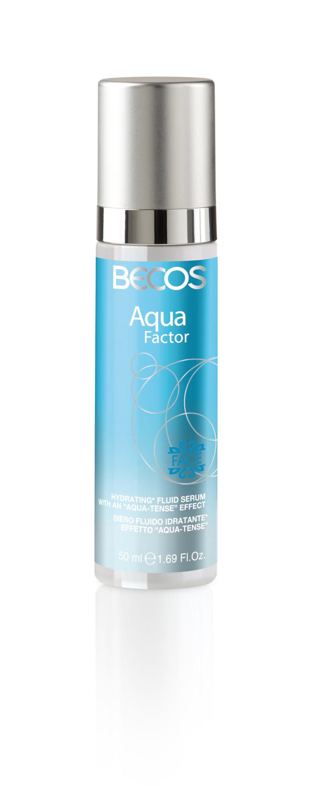 Il siero idratante effetto aqua tense della linea Aqua Factor by Bacos