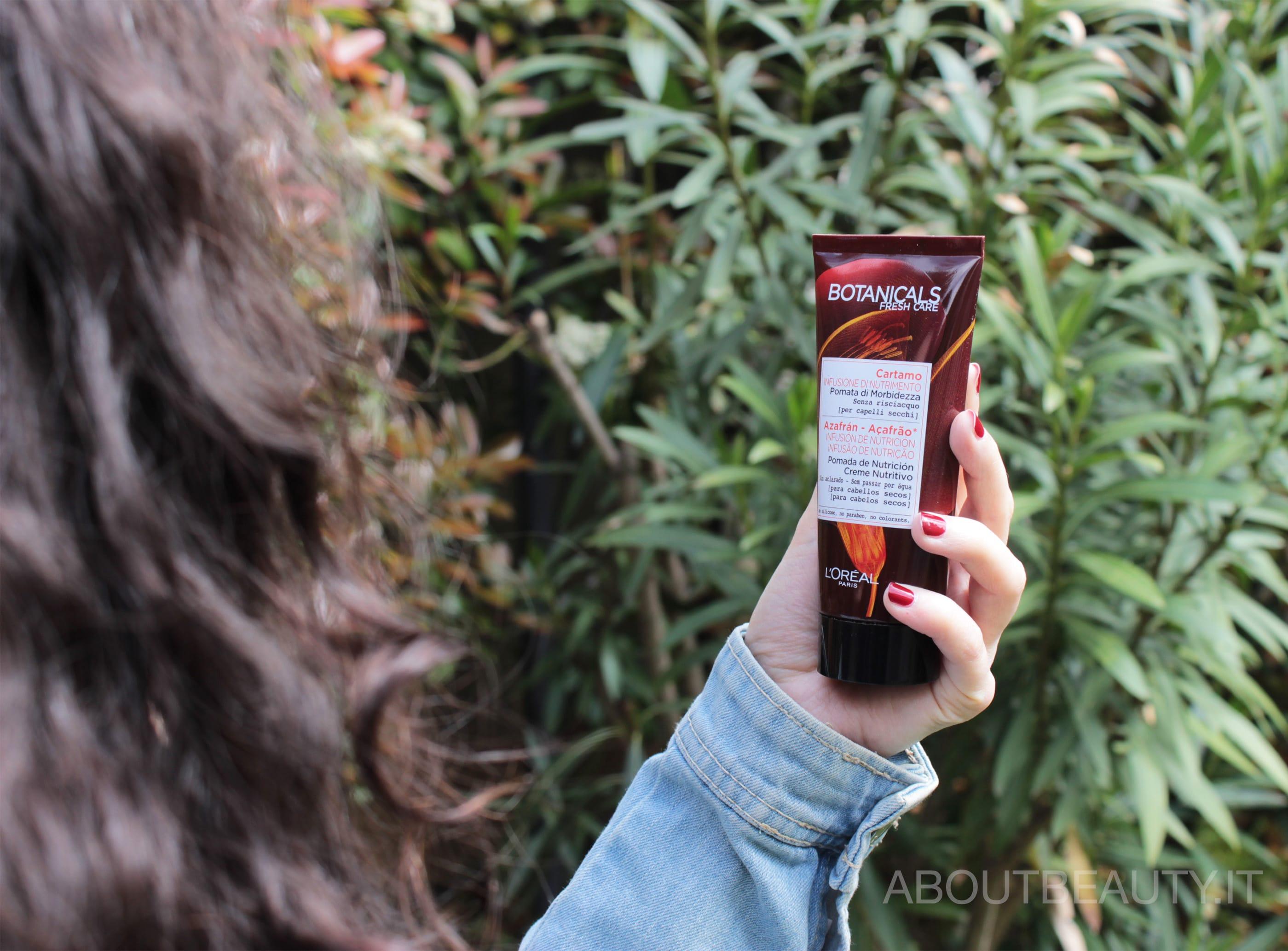 L'Oreal Botanicals Fresh Care, la linea al Cartamo per capelli secchi - La pomata di morbidezza