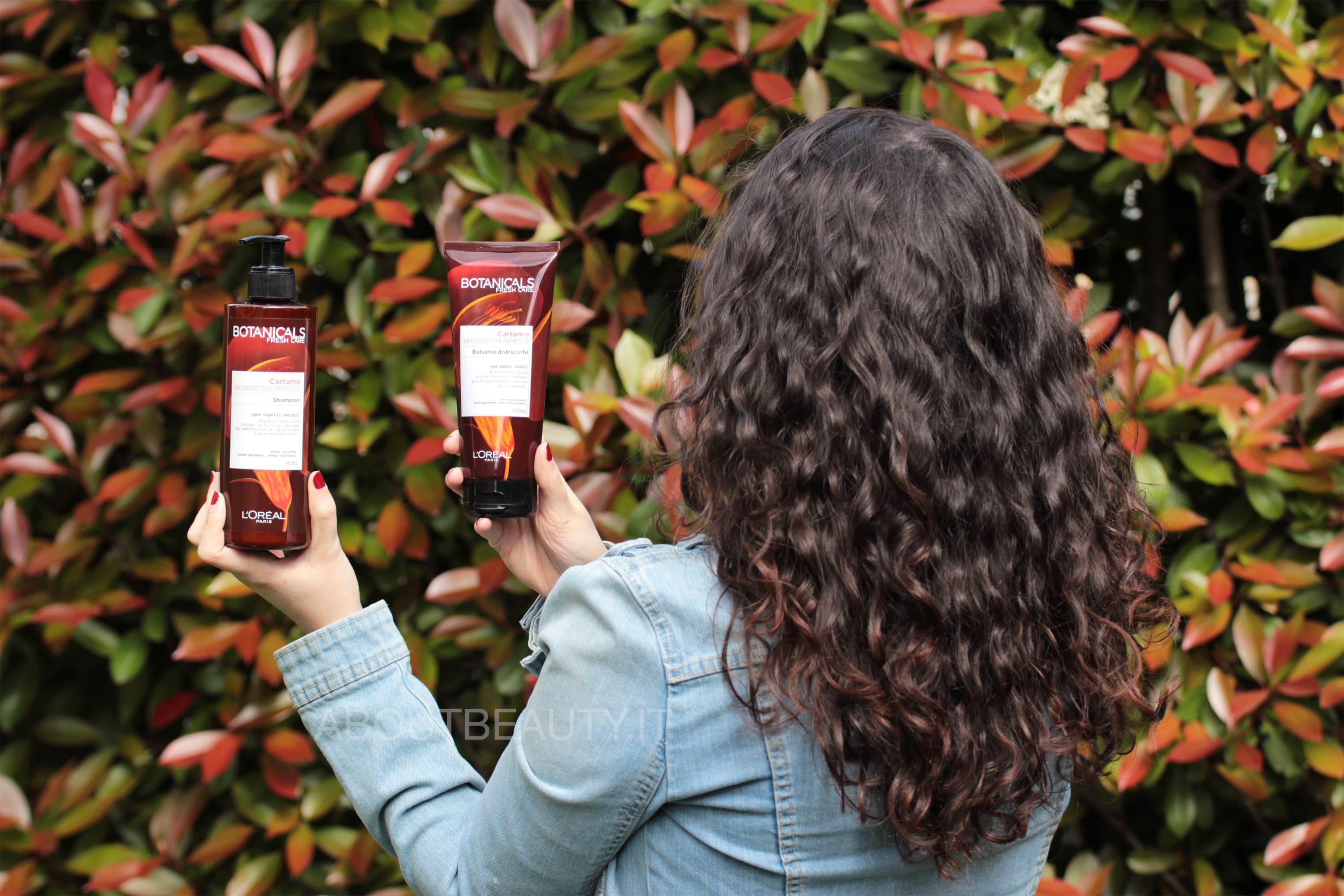 L'Oreal Botanicals Fresh Care, la linea al Cartamo per capelli secchi - Shampoo e balsamo