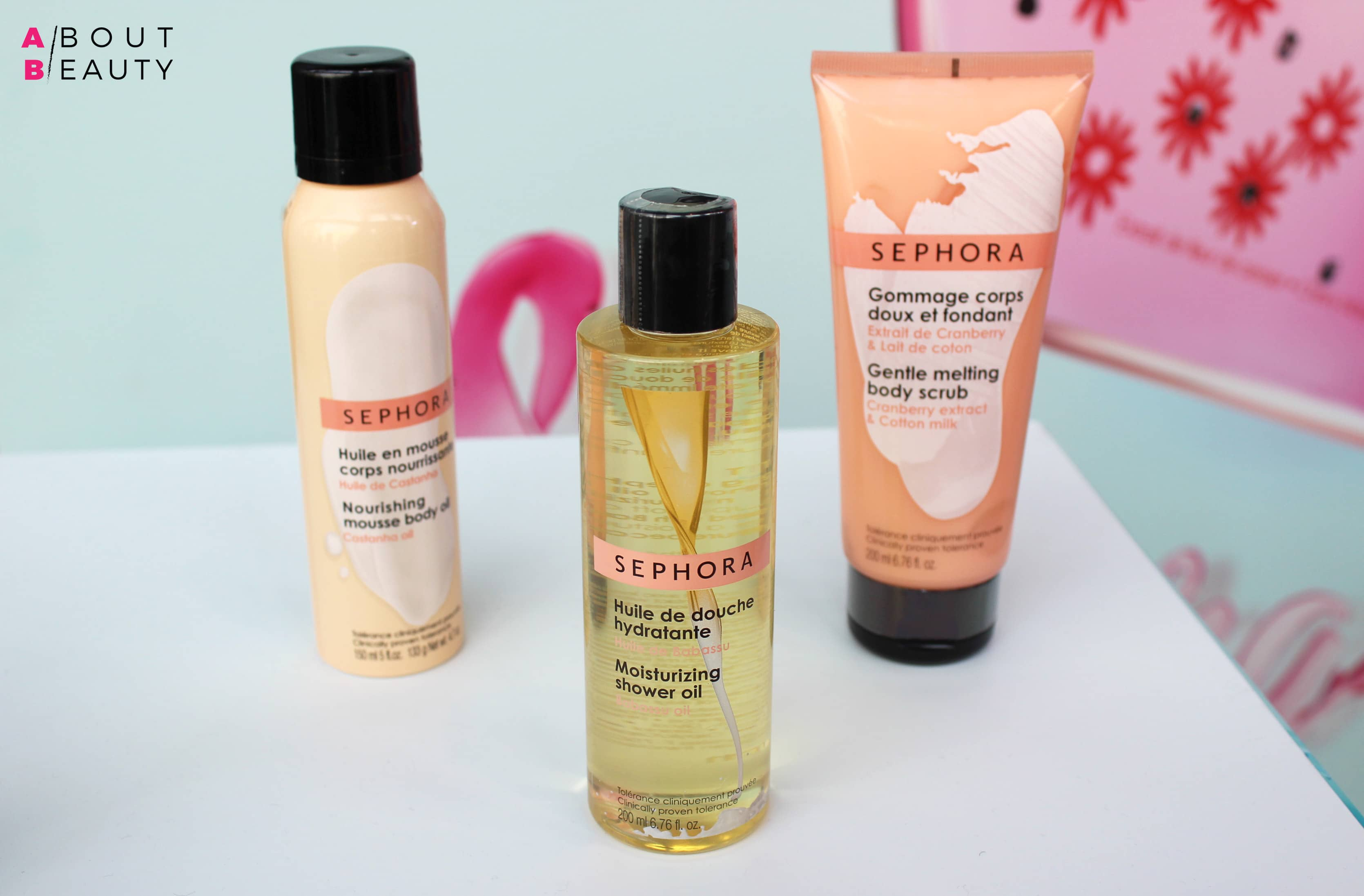 Sephora Bagno e Skincare, tutte le novità Primavera-Estate 2017 - La linea Good Skincare: Nourishing Mousse Body Oil, Moisturizing Shower Oil Gentle e Melting Body Scrub