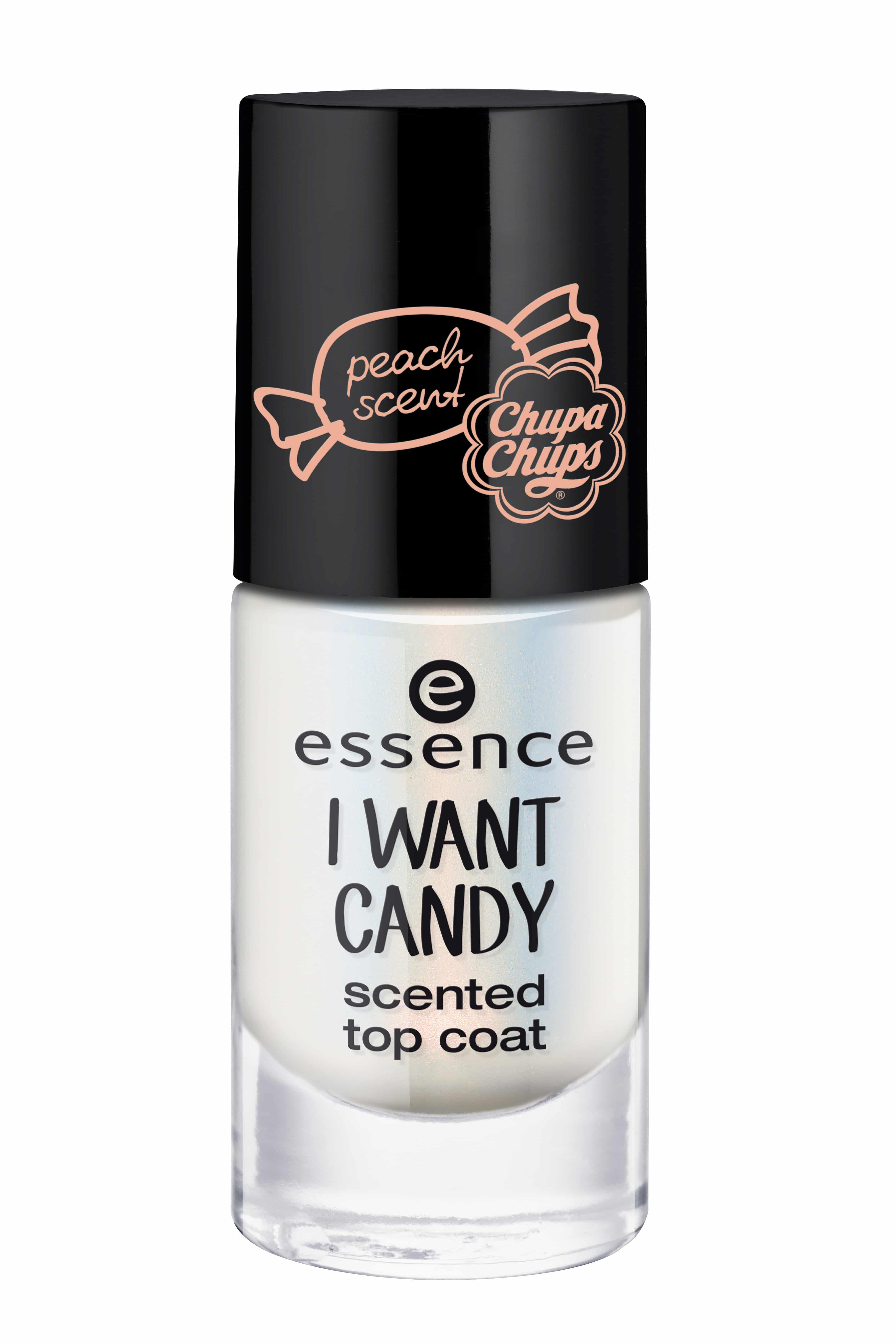 Essence I want candy: lo smalto topcoat profumato