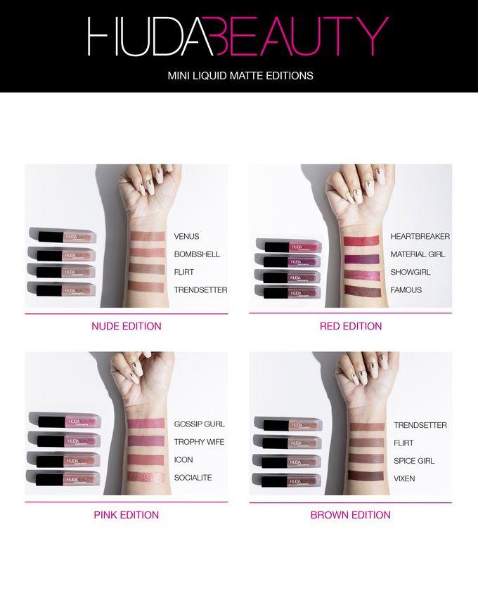 Huda Beauty arriva in Italia: tutti i prodotti presto disponibili da Sephora - Rossetti liquidi opachi Liquid Matte Mini Kit