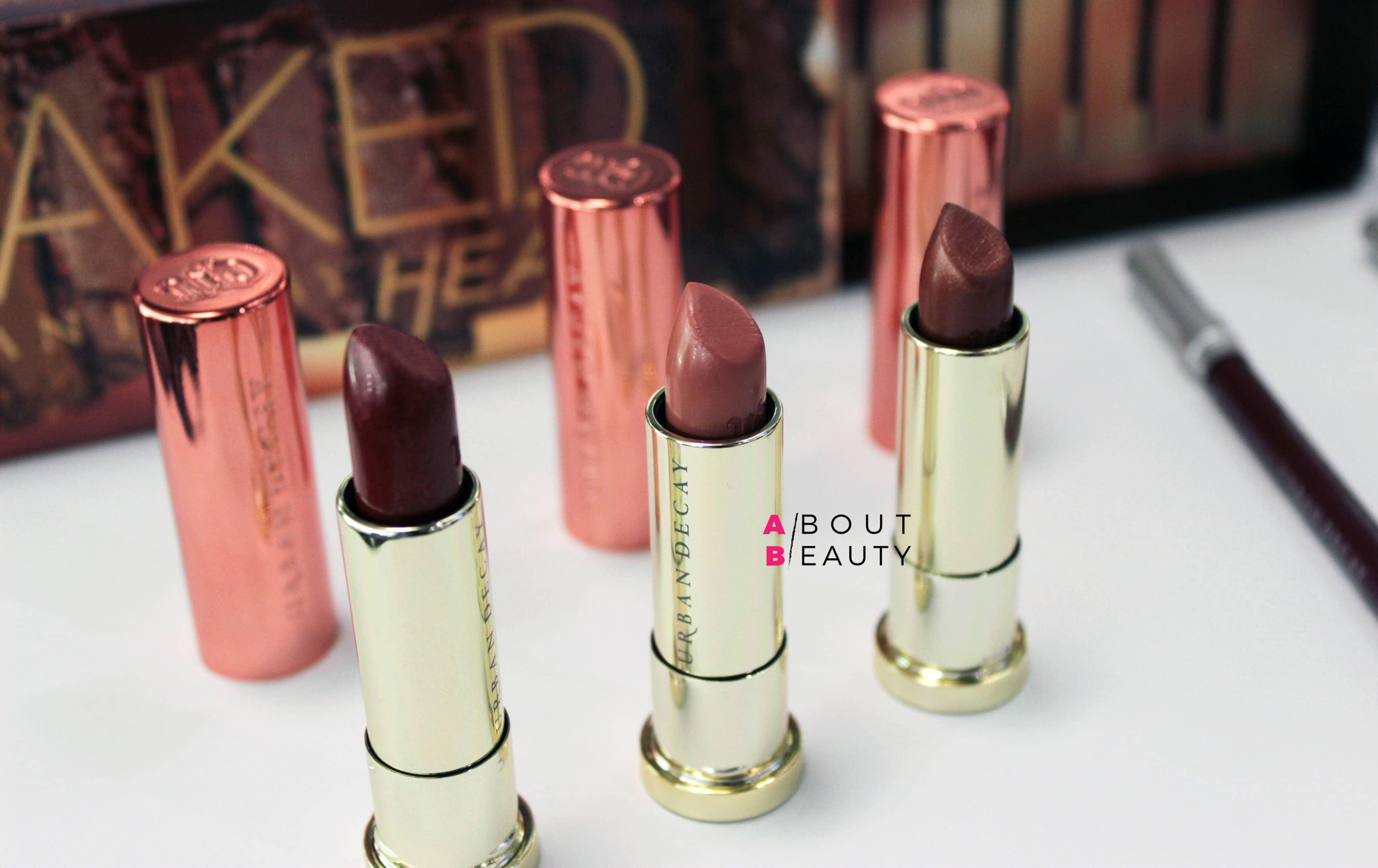 Urban Decay Naked Heat Collection - Swatch, info, prezzi e recensione | I rossetti Vice Lipstick