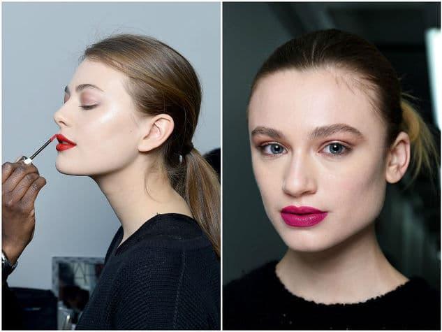 Tutti i trend make-up e skincare per l'autunno 2017 - Labbra tinte di rosso o altri colori vivaci