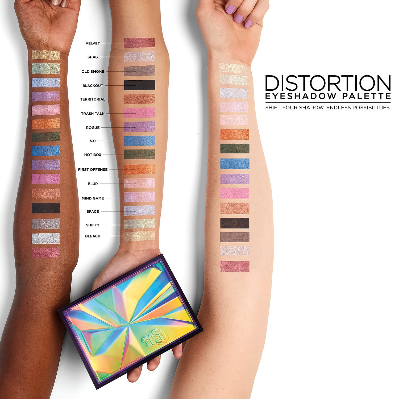 Urban Decay Distortion Eyeshadow Palette - Recensione, dove acquistare, info, prezzo - Gli swatches