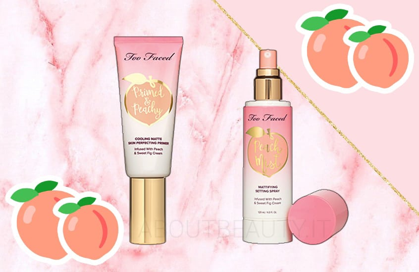 Le novità Too Faced Primavera/Estate 2018 - Review, recensione, info, prezzo, dove acquistare, swatch - Primer Primed and Peachy e Peach Mist