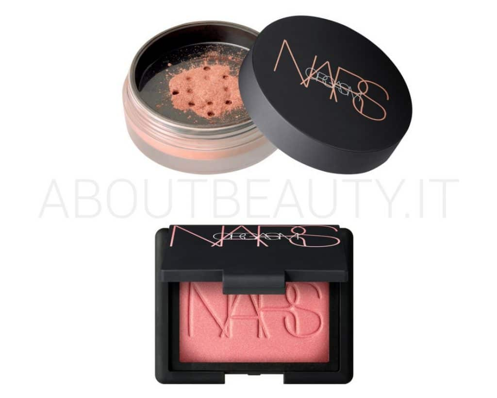 About Beauty Novità Nars Summer Estate 2018 viso - Review, recensione, opinioni, info, prezzo, data di uscita, dove acquistare, swatch - Cipria Orgasm Illuminating Loose Powder e Orgasm Blush in formato oversize maxi