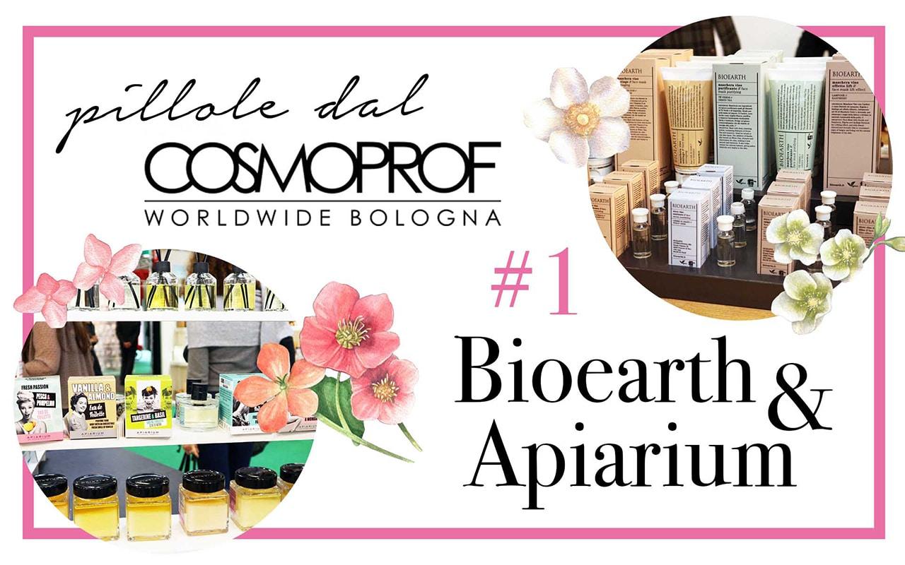 Pillole dal Cosmoprof #1: Bioearth e Apiarium - Novità Cosmoprof 2018 - Info, dove acquistare, prezzo, INCI, review, recensione