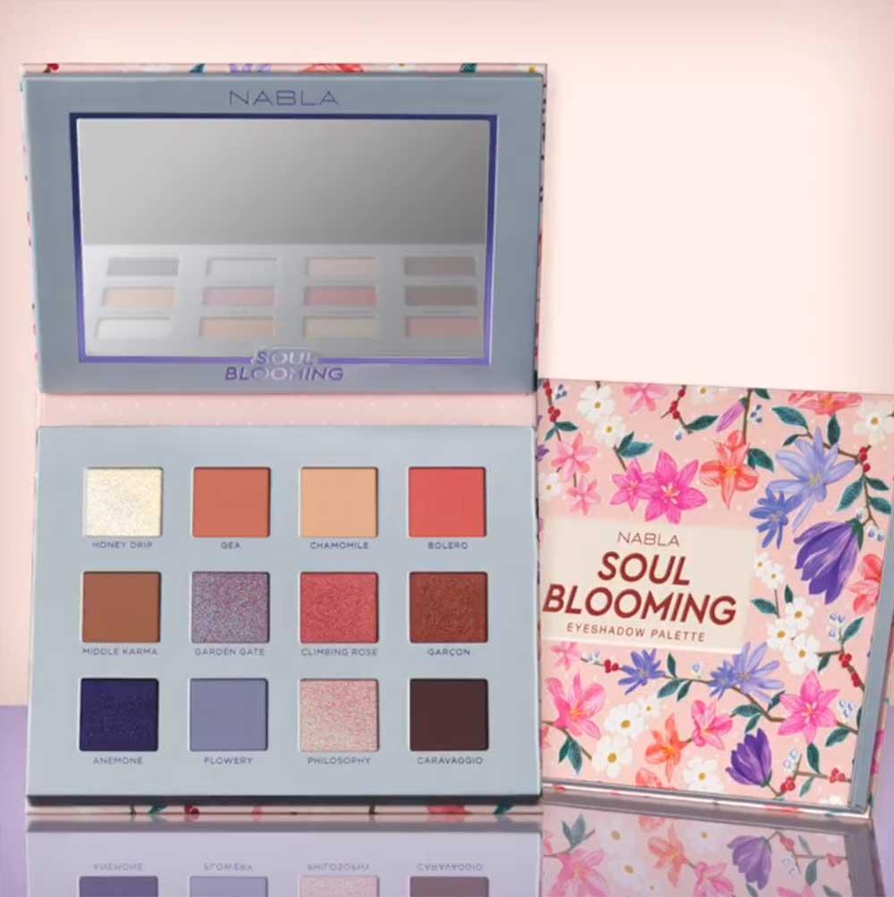 Soul Blooming, la nuova collezione primavera 2018 firmata NABLA Cosmetics: anteprima, foto, swatch, prezzo, dove acquistare, data di uscita, info - Packaging della Soul Blooming Eyeshadow Palette