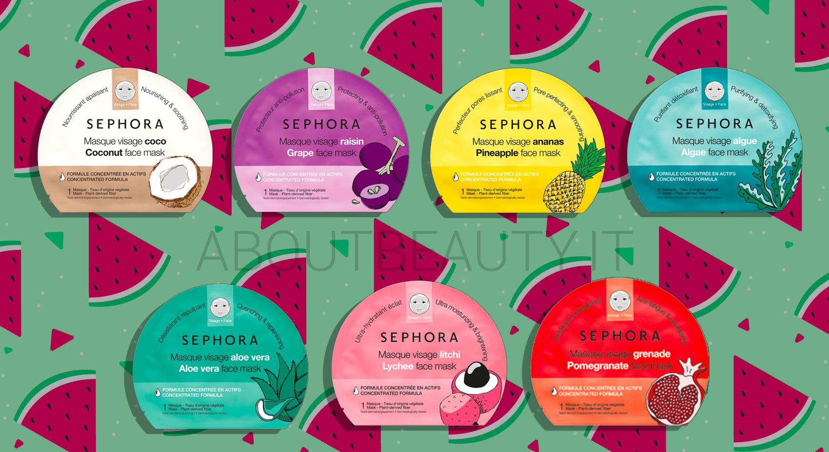 Pulizia del viso a casa con le novità Sephora Collection Skincare Estate 2018: maschere viso - Review, recensione, opinioni, info, prezzo, dove acquistare