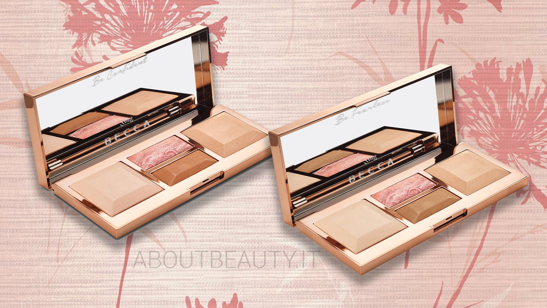 Tutte le novità Becca Cosmetics: la nuova palette viso Be a Light, l'Ultimate Coverage Foundation e i nuovi illuminanti - info, prezzi, swatch, opinioni, review, recensione