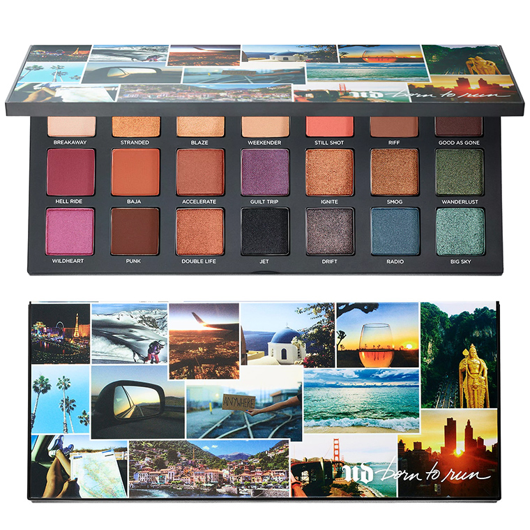 Born To Run Collection di Urban Decay, info, prezzi, swatches, opinioni, review, recensione, swatch, dove acquistare - Palette di ombretti Born to Run Eyeshadow Palette
