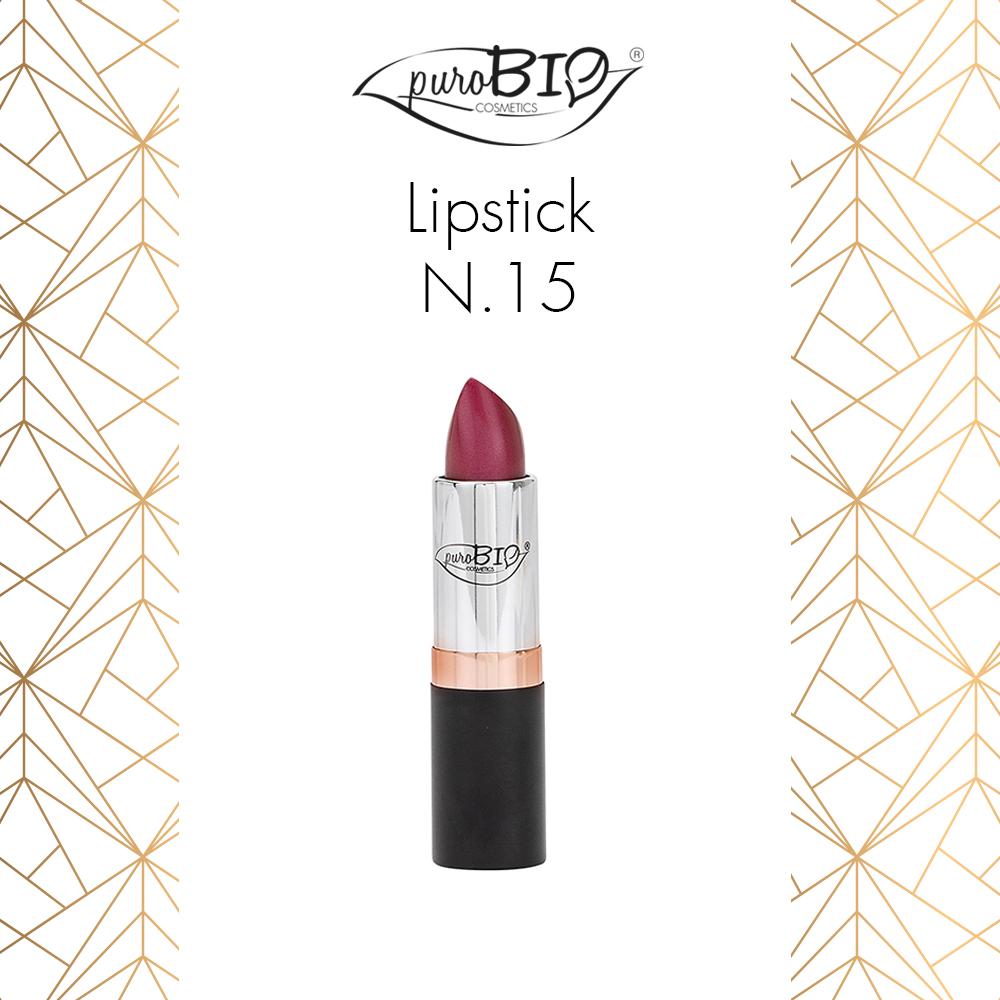 Purobio Luxus Collezione trucco make-up autunno 2018 - Info, recensione, review, opinioni, swatch, prezzo, dove acquistare - Rossetto Lipstick 15