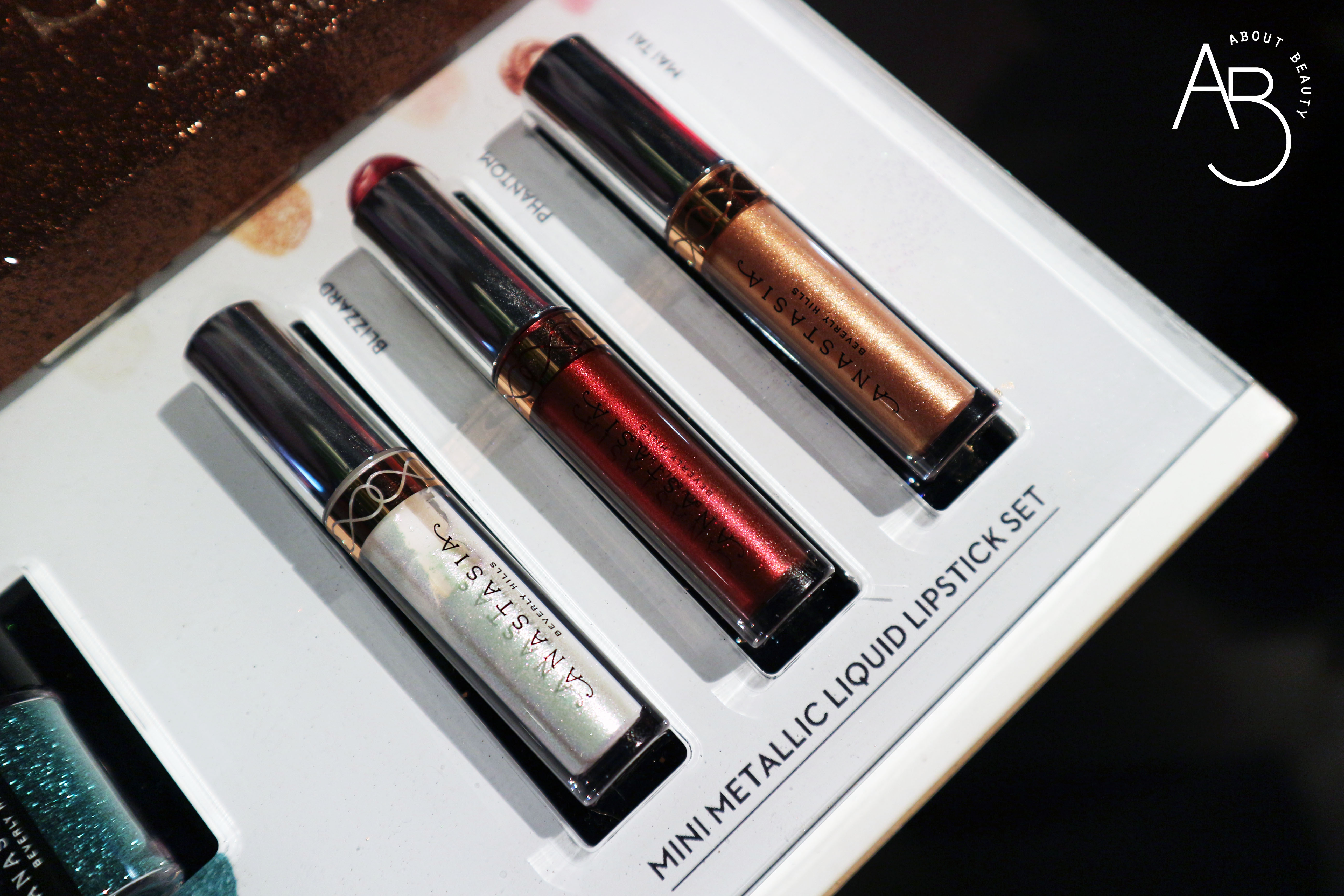 Sephora Natale 2018 Novita da non perdere - Make-up - Anastasia Beverly Hills Mini Metallic Liquid Lipstick Set - Review, recensione, swatch, info, prezzo, dove acquistare, data di uscita