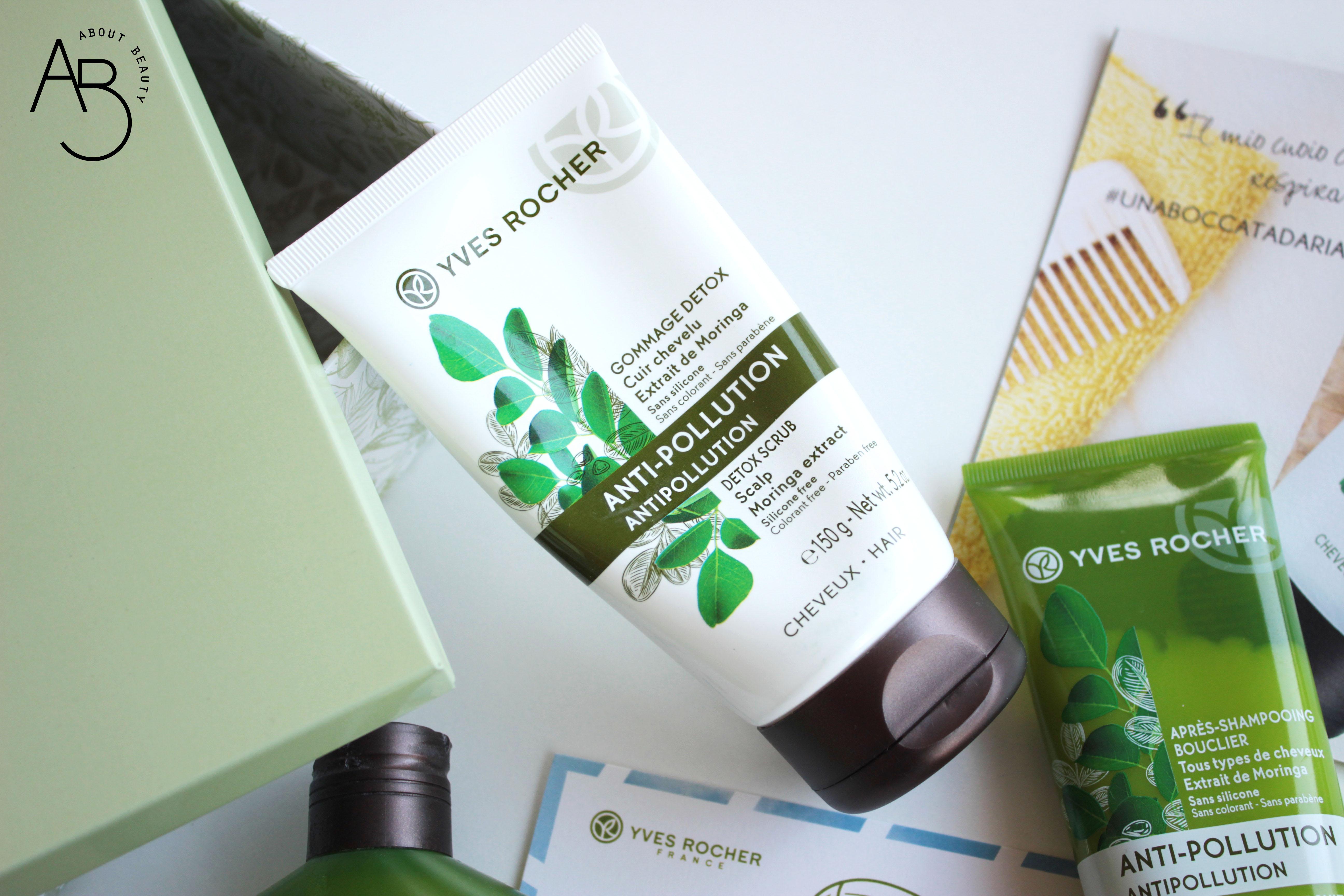yves rocher trattamenti detox per capelli gommage shampoo micellare balsamo - recensione, info, prezzo, dove acquistare, review - anti pollution detox scrub gommage