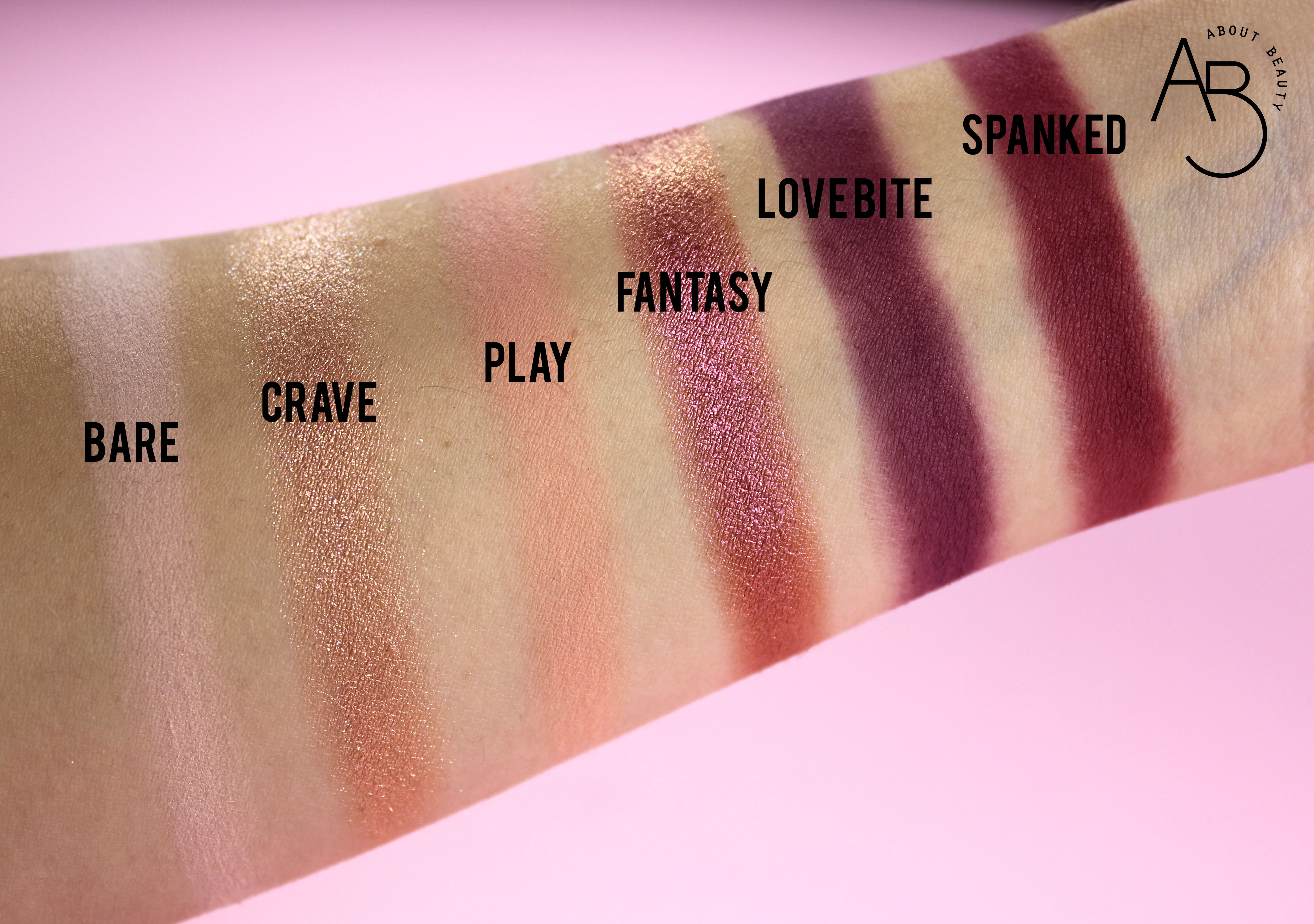 Huda Beauty New Nude Eyeshadow Palette Ombretti - review recensione info prezzo dove acquistare swatch bare crave play fantasy love bite spanked