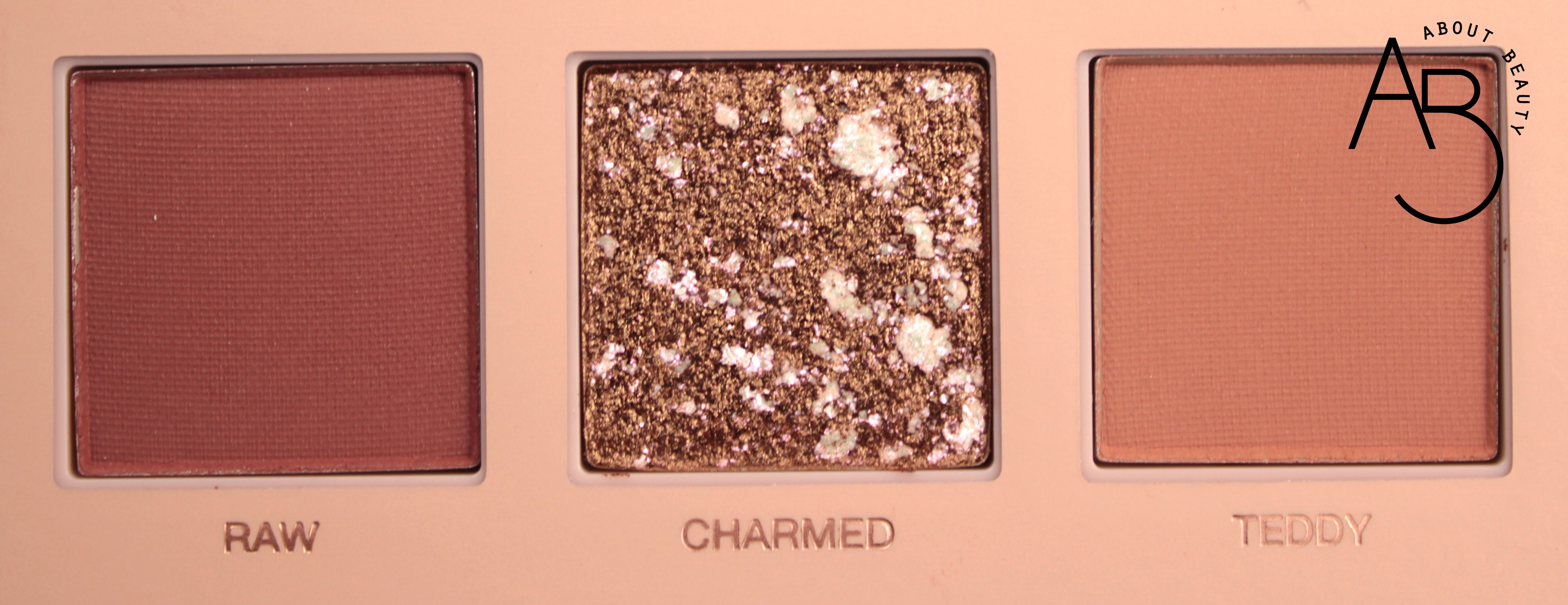 Huda Beauty New Nude Eyeshadow Palette Ombretti - review recensione info prezzo dove acquistare swatch sconto - Raw Charmed Teddy