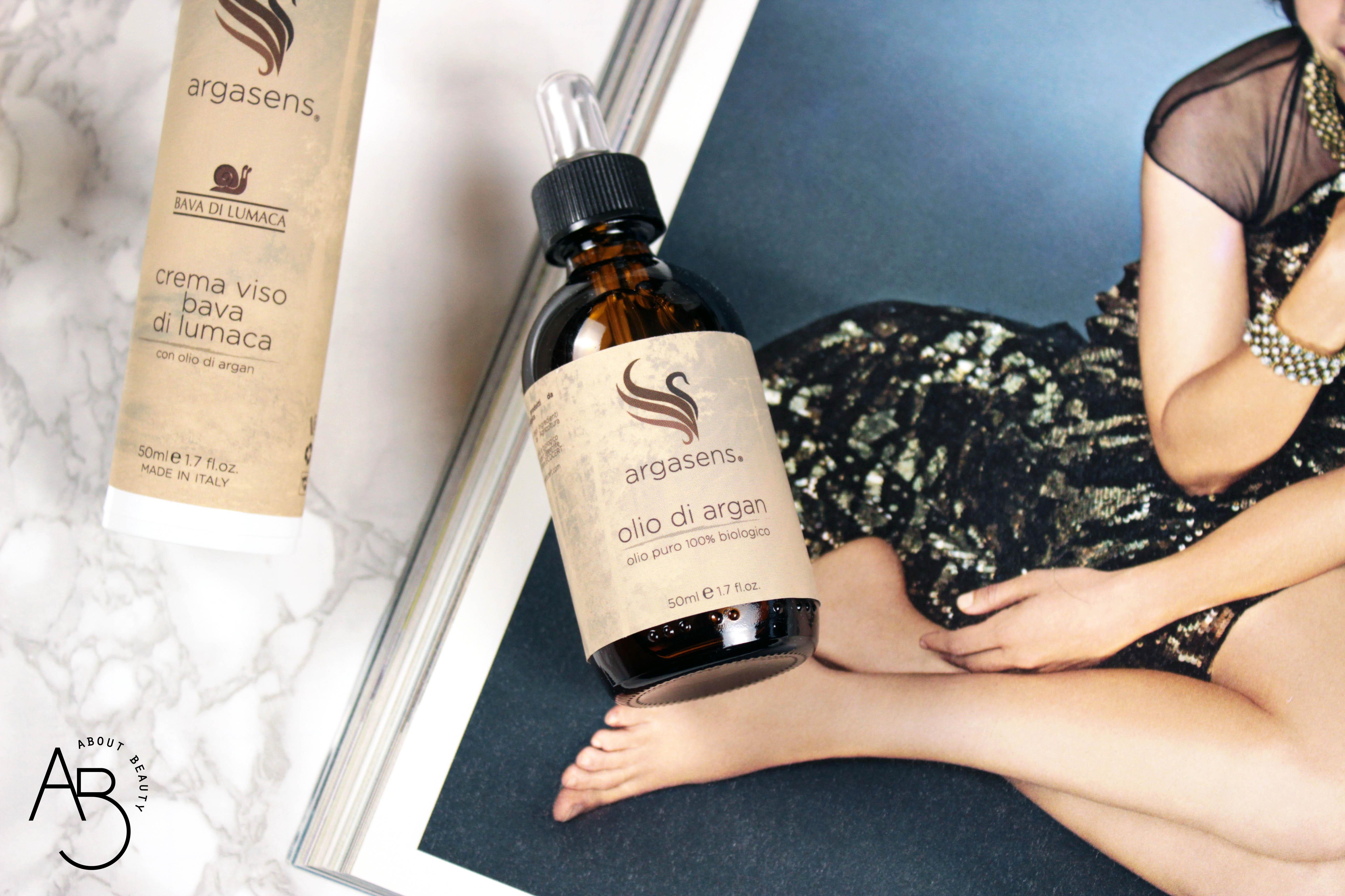 Argasens, olio di argan biologico puro e crema viso alla bava di lumaca - Recensione, info, review, prezzo, dove acquistare, inci - Olio puro logo