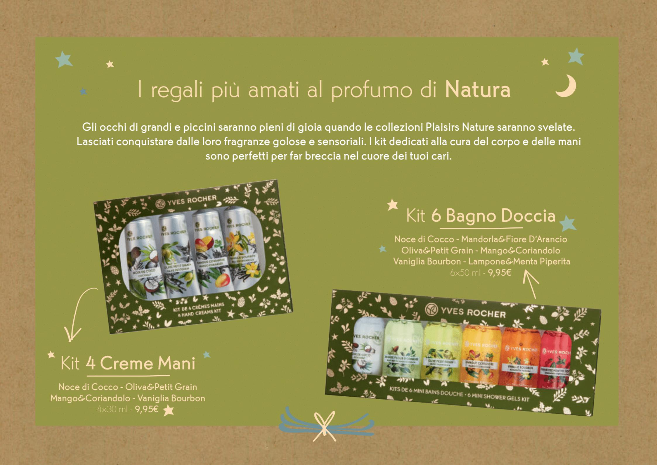 Il Natale Yves Rocher - Idee regalo, cofanetti, info, review, recensione, prezzo, cestini - Kit Plaisirs Nature