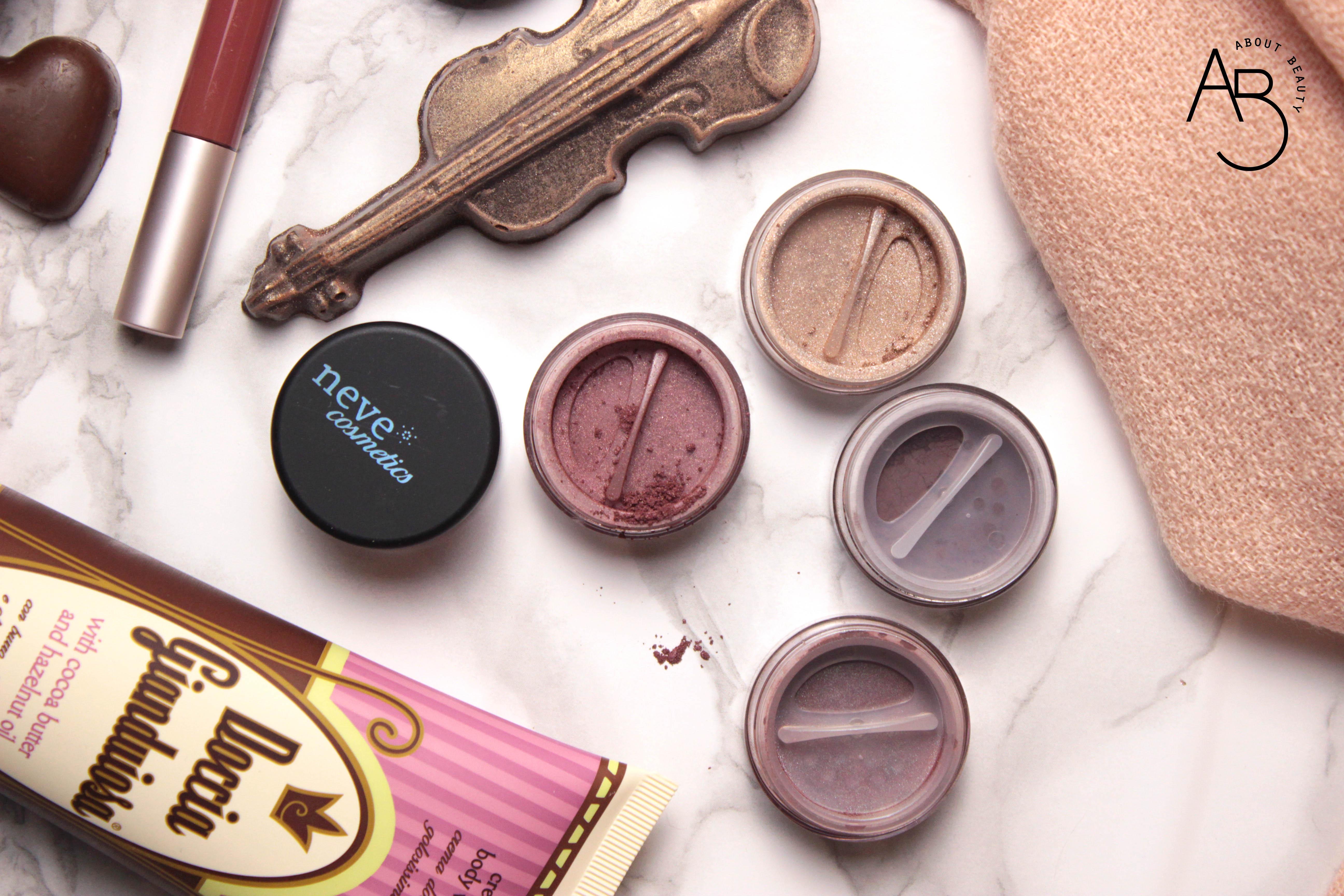 Doccia gianduiosa Neve Cosmetics - Review, recensione, info, prezzo, dove acquistare - Chocolate Valentine Promo - Ombretti minerali