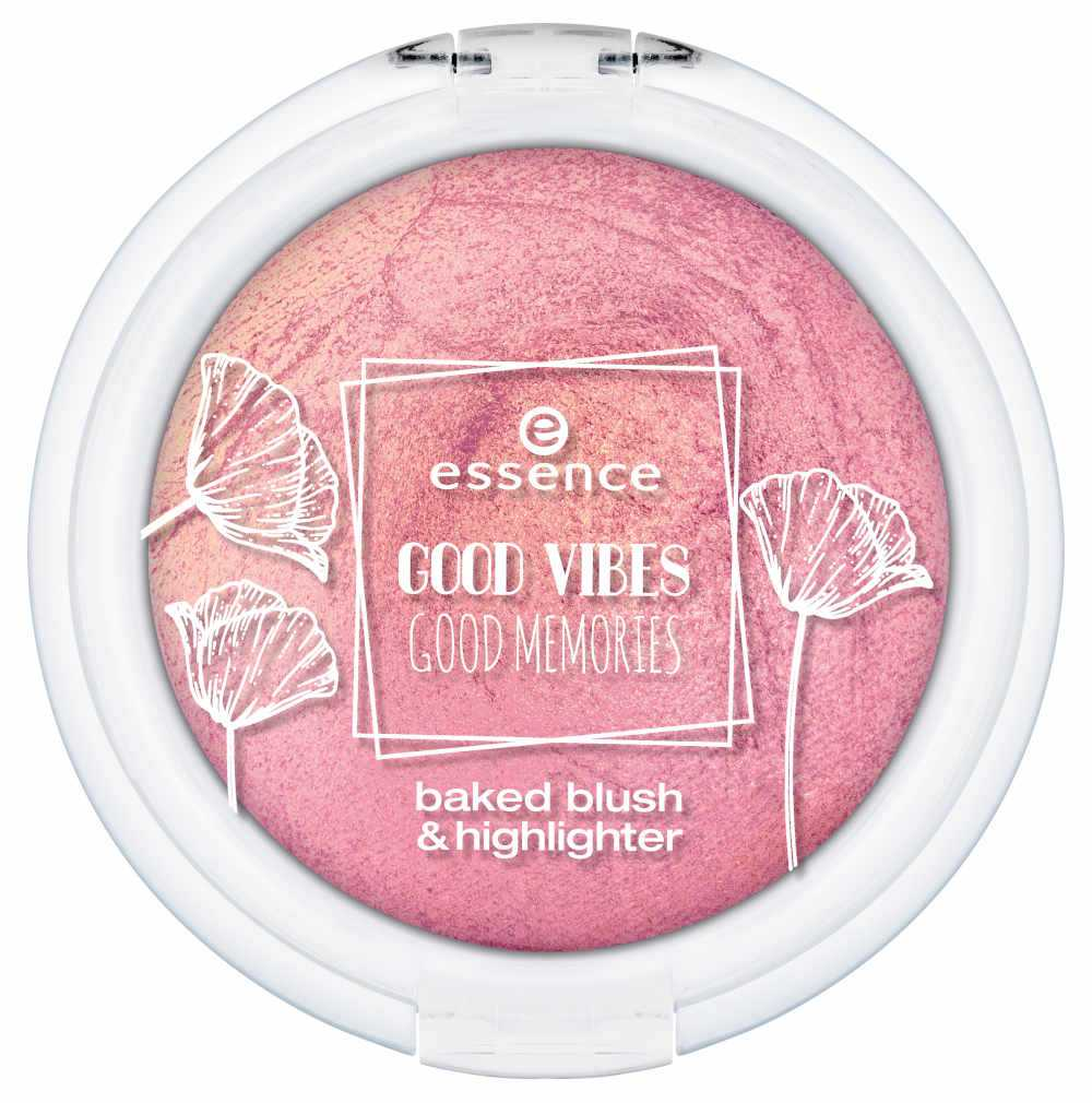 Essence Good Vibes Good Memories - Info, review, recensione, data uscita, dove acquistare, swatch, opinioni - Baked blush and highlighter
