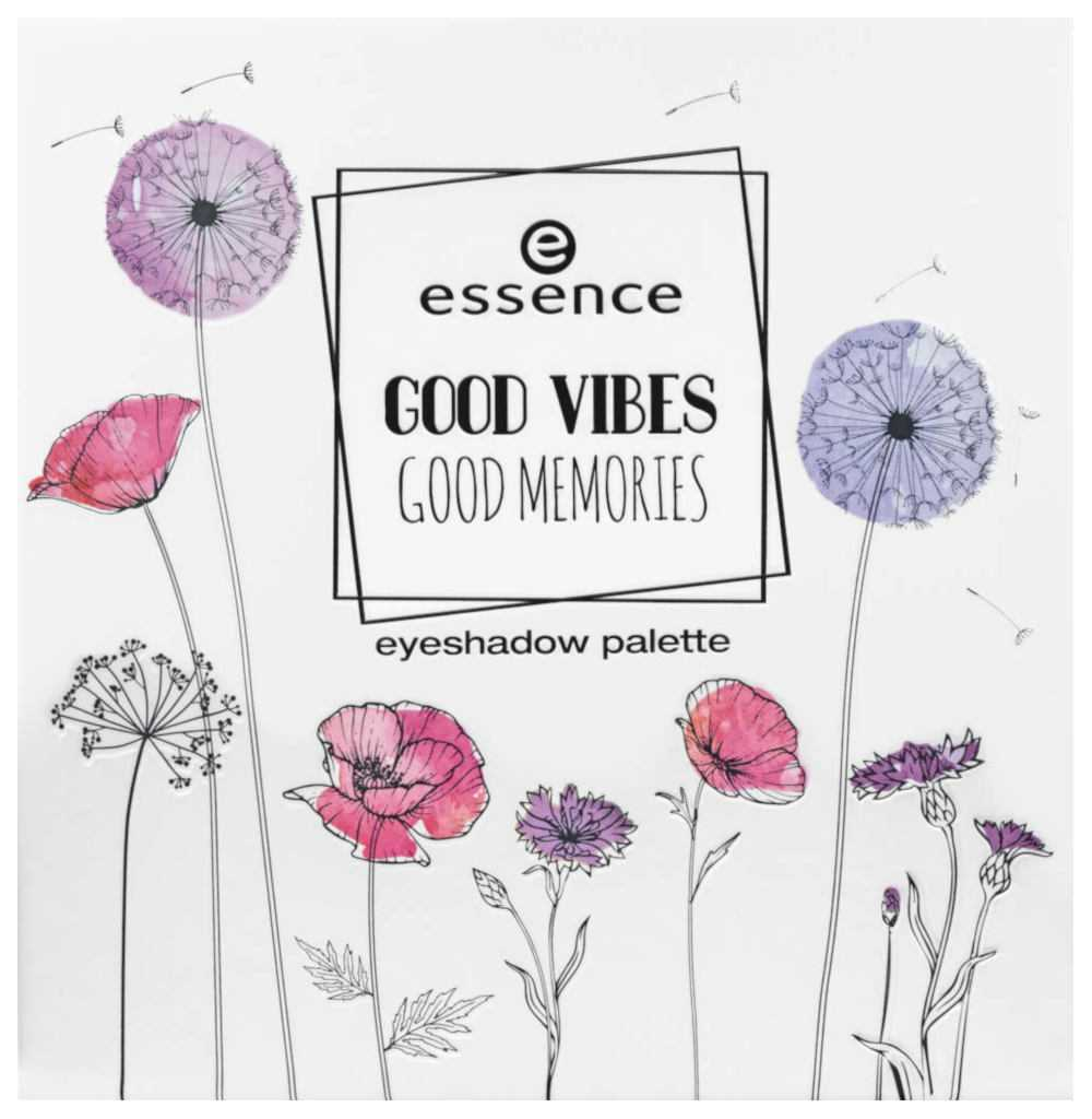 Essence Good Vibes Good Memories - Info, review, recensione, data uscita, dove acquistare, swatch, opinioni - Eyeshadow palette packaging
